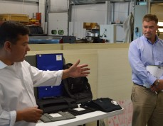 Kingston Mayor, Congressman Tour Armor Dynamics Facility
