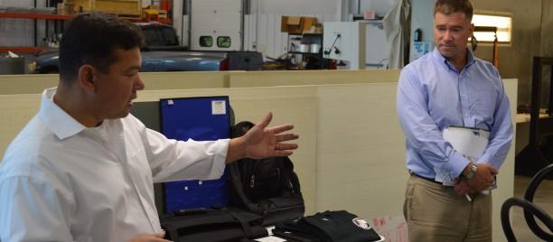 Kingston Mayor, Congressman Tour Armor Dynamics Facility